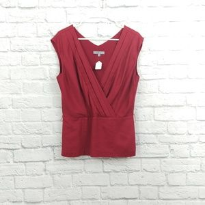 Classiques Entier | Red Sleeveless Side-Zip Blouse
